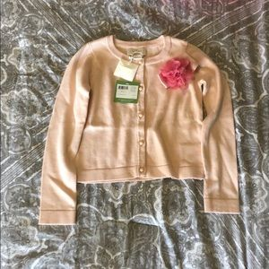 NWT Kate Spade ribbon rose cardigan toddler size 5
